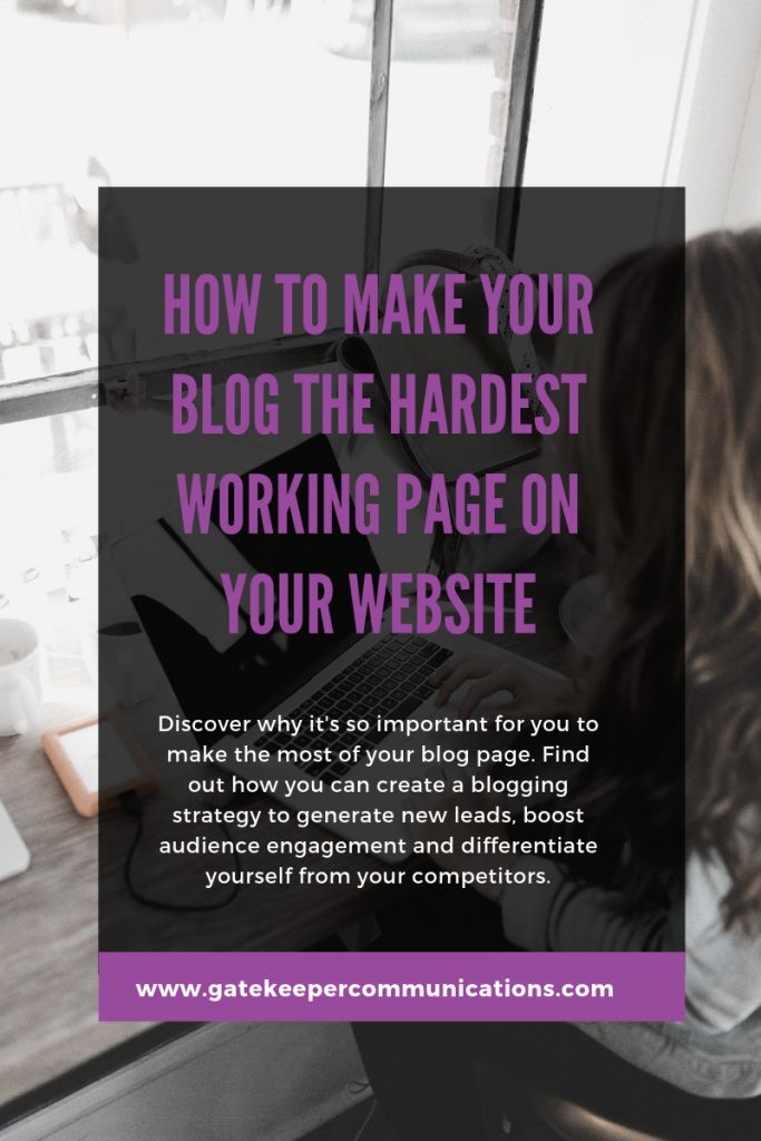 Discover how to make your blog the hardest working page on your website
