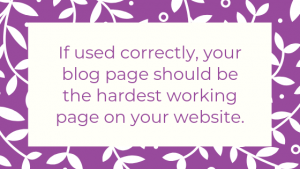 How to ensure you have a hard working blog - tip #1