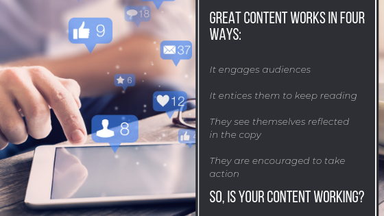 Audience engagement relies on great content working in four key ways