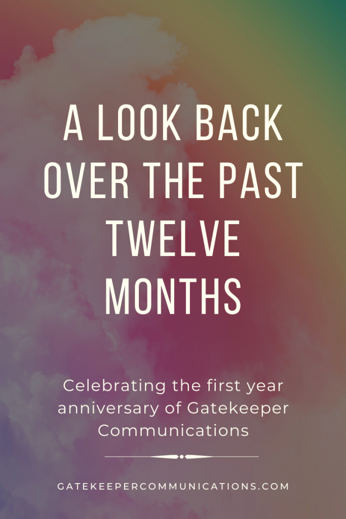 A look back over the last 12 months at Gatekeeper Communications, specialists in copywriting, PR and marketing based in Ipswich, Suffolk