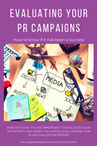 Blog graphic to complement an article about how to evaluate PR campaigns